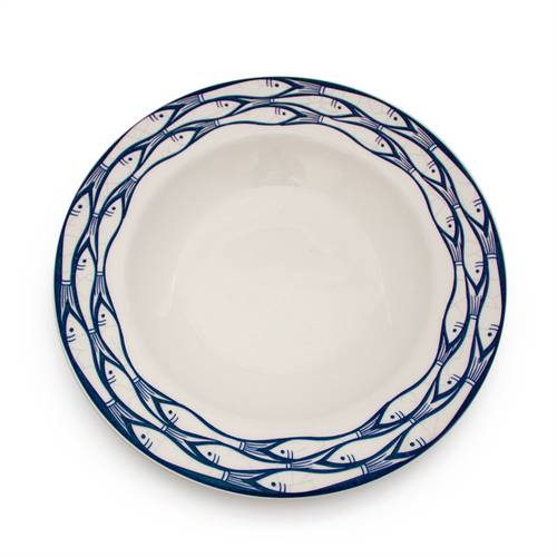 Sardine Run Deep Rimmed Bowl