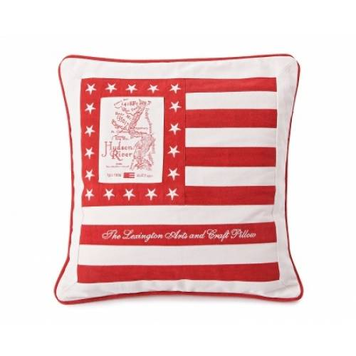 Lexington Map Cushion Red