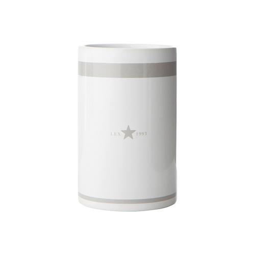 Lexington Bathroom Tumbler White/Grey
