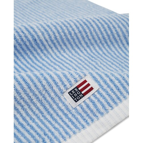 Lexington Large Hand Towel Blue & White Stripe