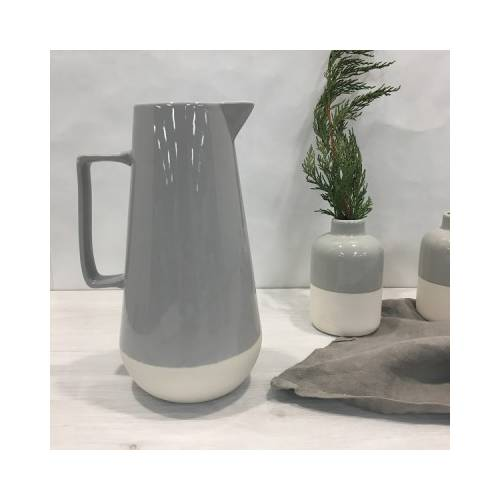 Porcelain Grey Pitcher