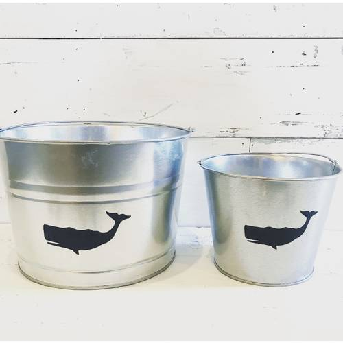Refreshments Bucket Navy Whale Small