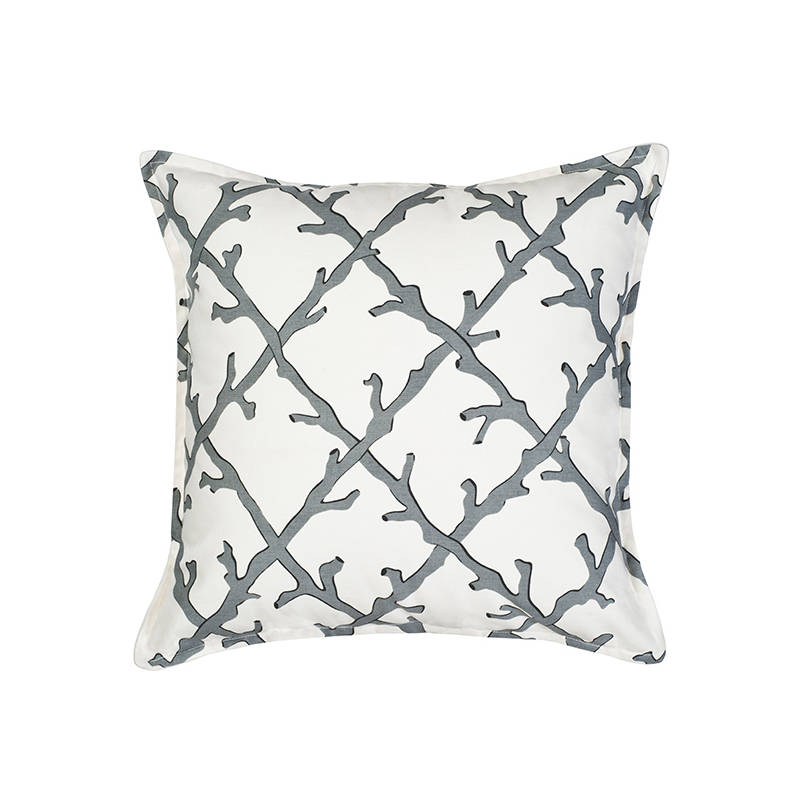 Coral Cushion Cover Grey