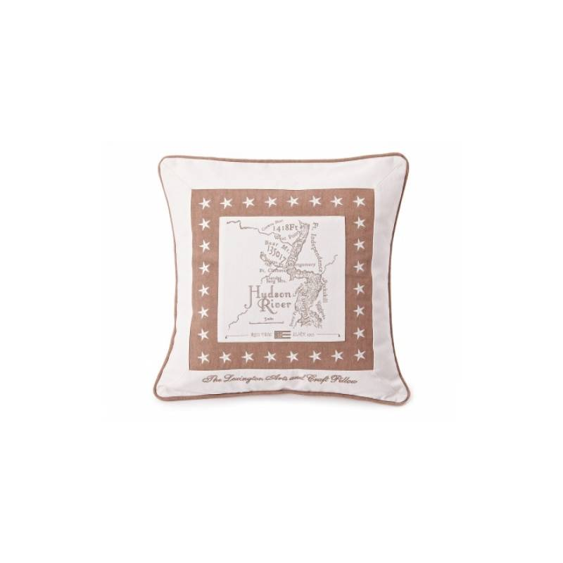 Lexington Map Cushion Tan
